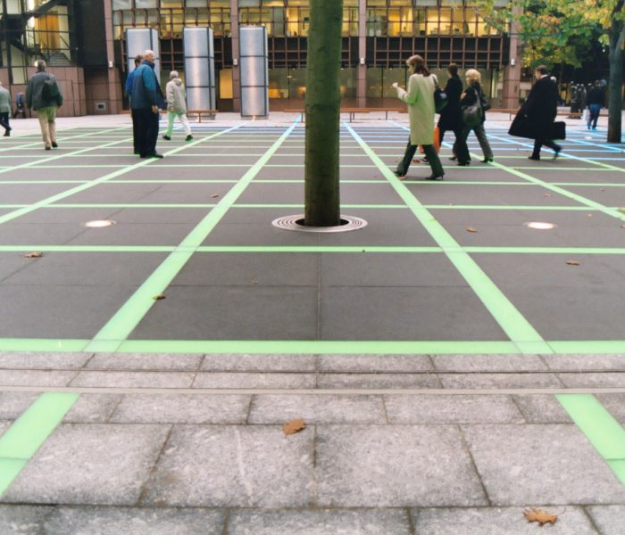 Artistic Licence lighting control at Finsbury Avenue Square, London