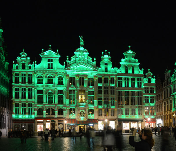 Artistic Licence lighting control at Grand Place, Brussels